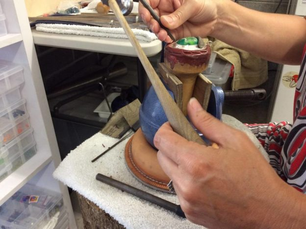 smithing - creation of a gemstone and sterling silver pendant
