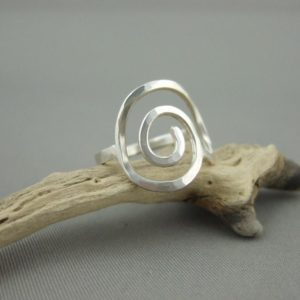 Small Sterling Silver Seashell Spiral Ring