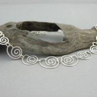 Sterling Silver Spiral Seashell Necklace