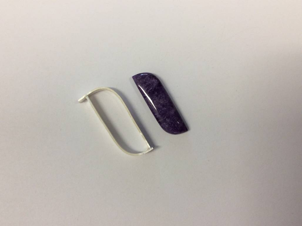 Charoite and Sterling Silver Ring Construction