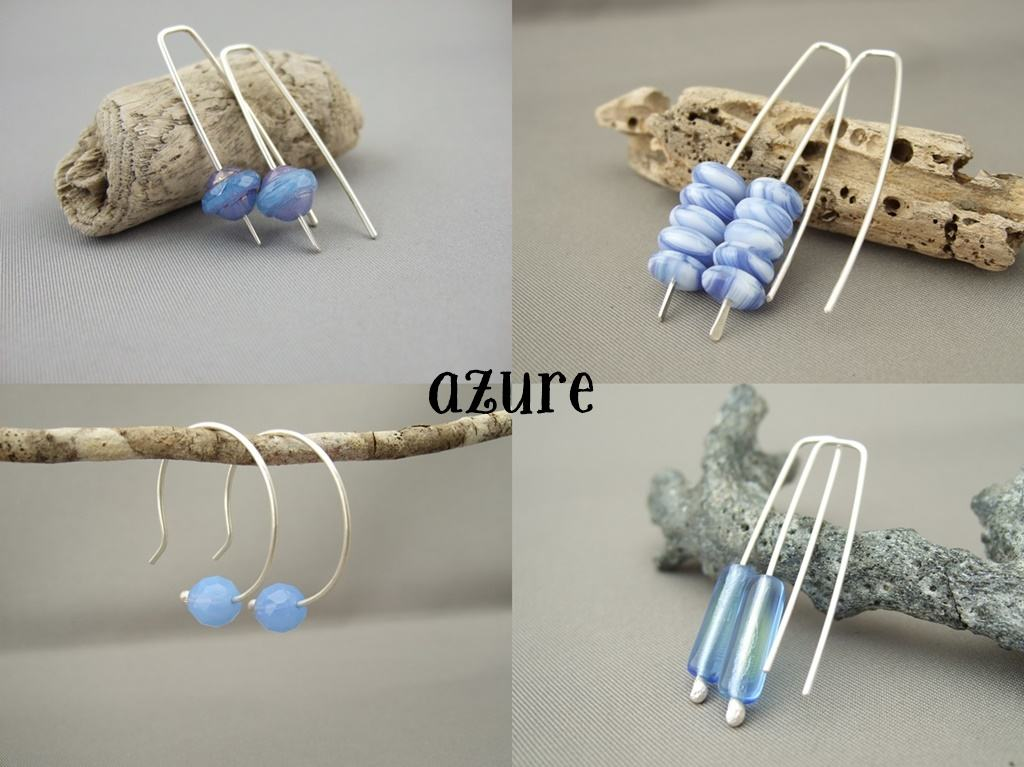 Czech Glass Earrings - Azure
