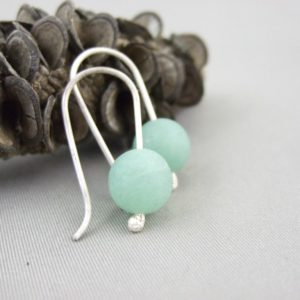 Aventurine and Sterling Silver Mineralist Earrings