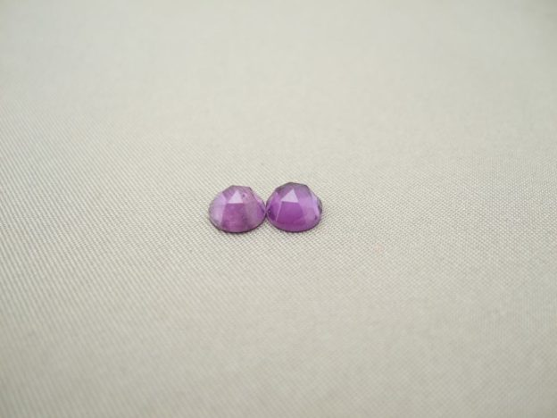 Amethyst Rose Cut Cabochon 6mm