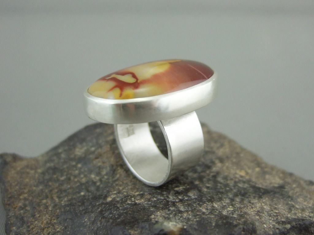 Mookaite and Sterling Silver Ring