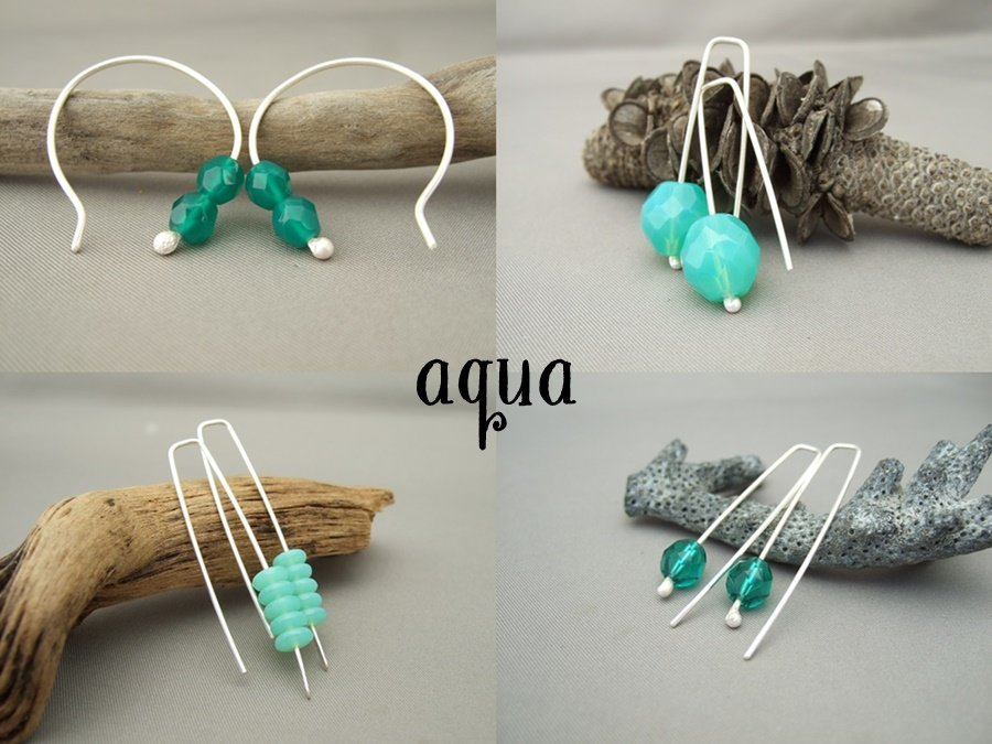 Czech Earring Tile - Aqua
