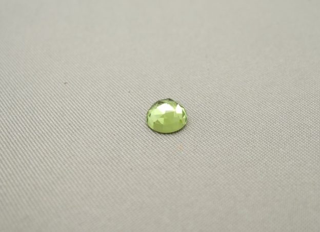 Peridot Rose Cut Cabochon 6mm
