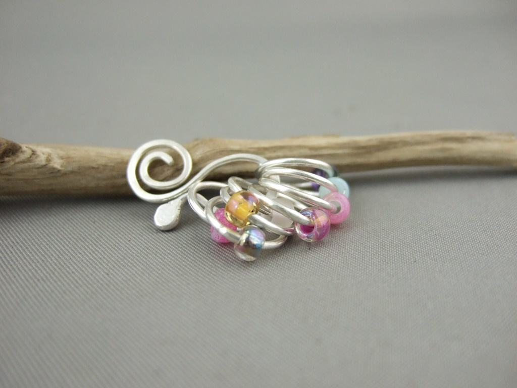 Sterling Silver Knitting Markers