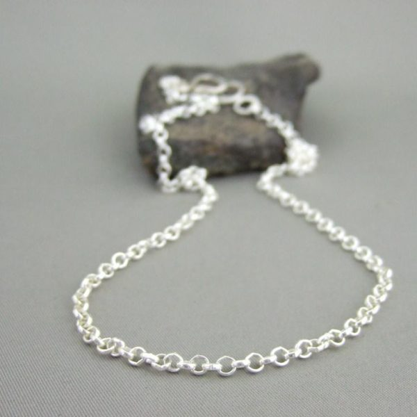 Sterling Silver Belcher Chain with Handmade Clasp