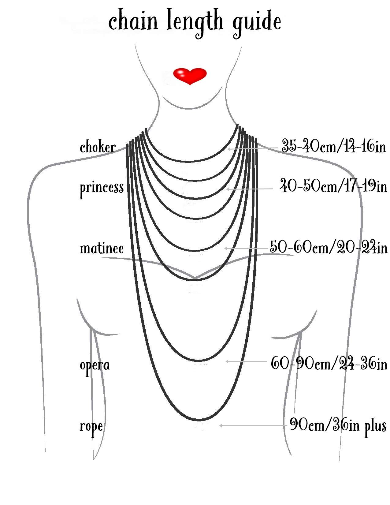 Necklaces Length Guide