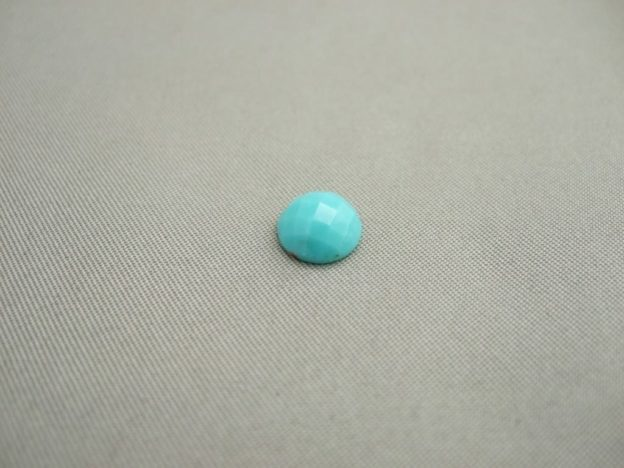 Turquoise Cabochons (8mm Round Checkerboard)