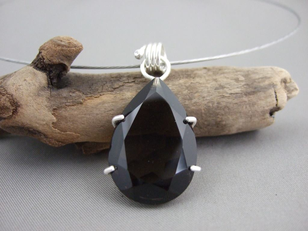 Smoky Quartz and Sterling Silver Pendant