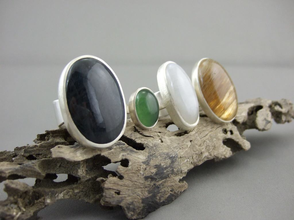 The Silver Forge Gemstone Rings