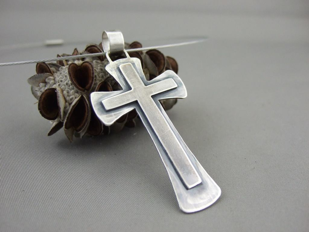 Sterling Silver Gothic Cross