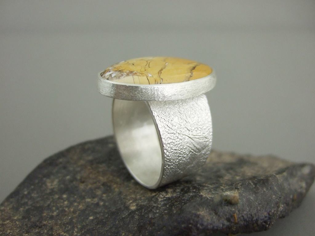Mookaite and Sterling Silver Men's Ring