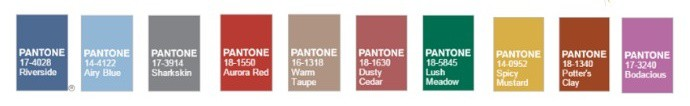 Pantone Fashion Colours Autumn 2016