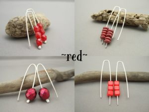 Czech Earrings- Red