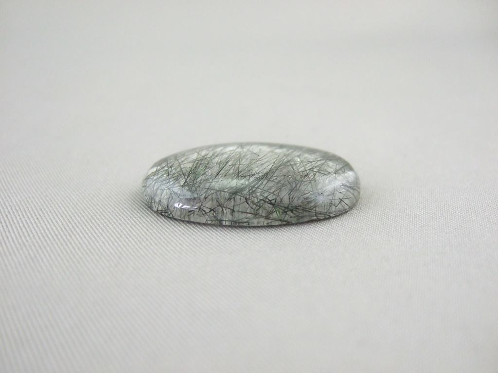 Tourmalinated Quartz Oval Cabochon 28mm