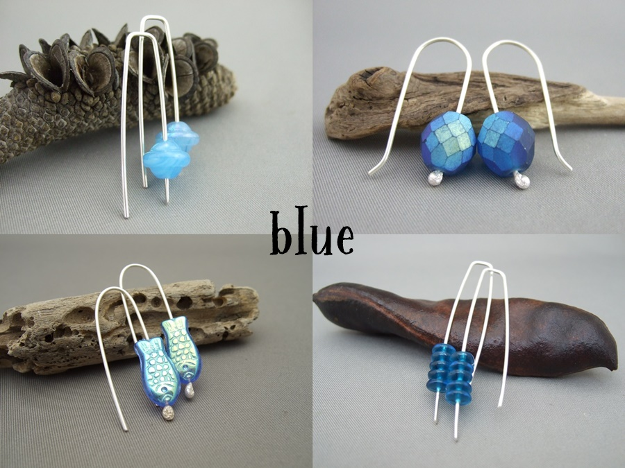 Czech Earrings - Blue
