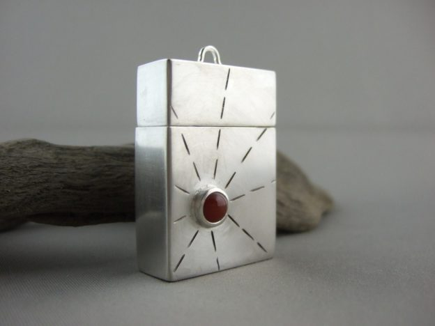 Sterling Silver and Carnelian Locket Box