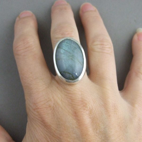 Labradorite and Sterling Silver Ring