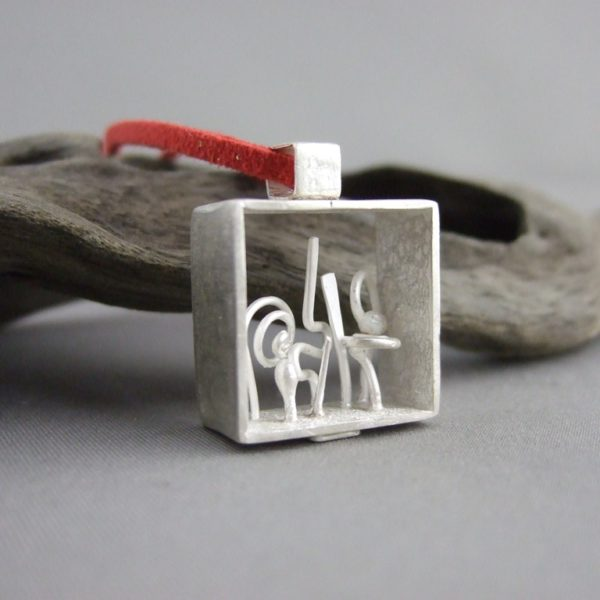 Sterling Silver Shadow Box Pendant Two