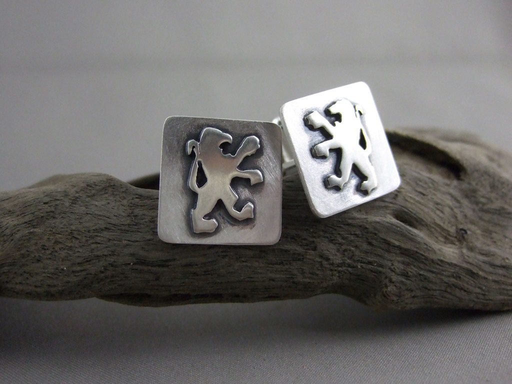 Peugeot Sterling Silver Lion Rampant Cuff Links