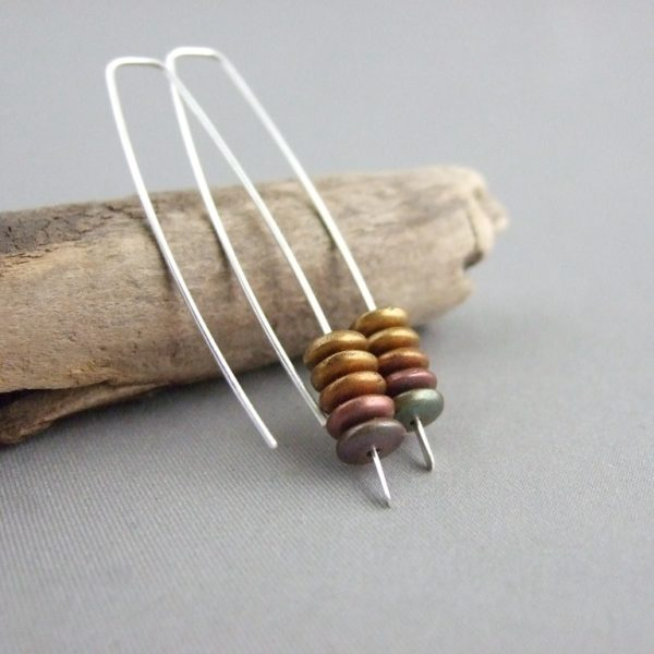 Golden Brown Stacked Earrings