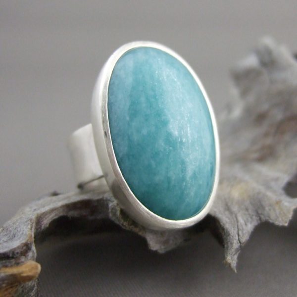 Amazonite and Sterling Silver Ring