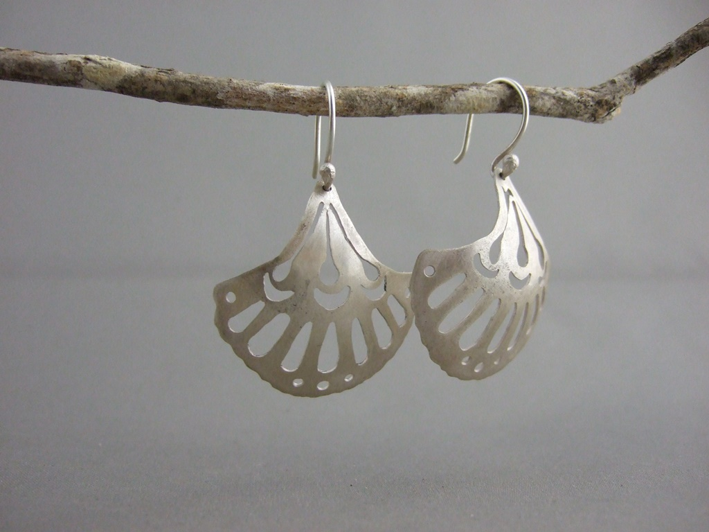 Art Nouveau Inspired Silver Earrings