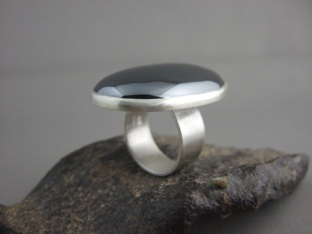 Haematite and Sterling Silver Ring