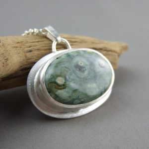 Rhyolite and Sterling Silver Pendant