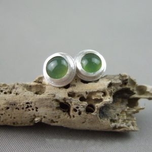 Serpentine Gemstone Stud Earrings