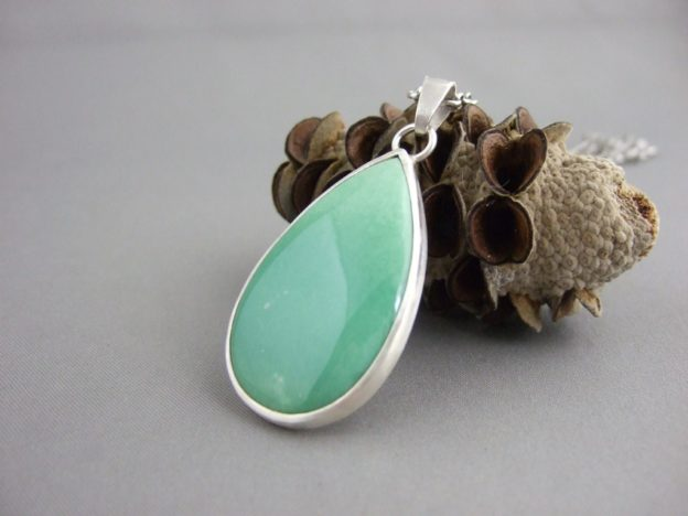 Variscite and Sterling Silver Pendant