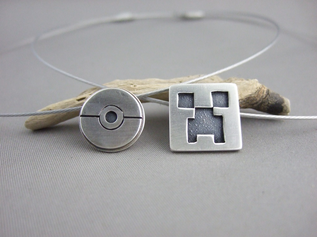 Pokemon and Minecraft Pendants