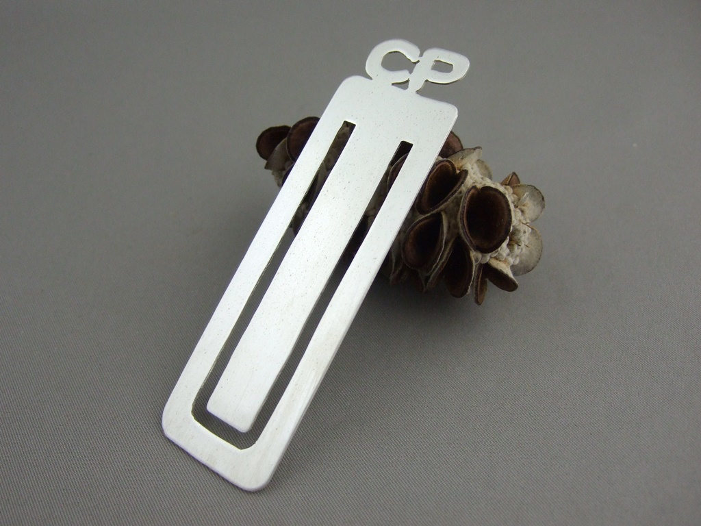 Sterling Silver Personalised Initials Bookmark
