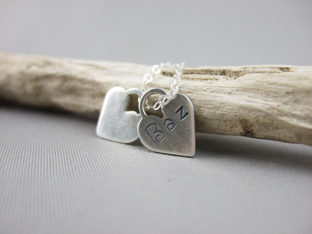 Sterling Silver Memory Hearts Pendant